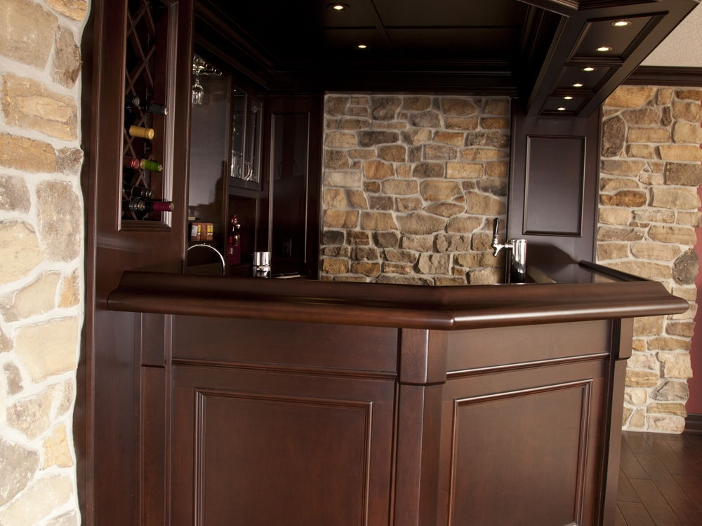 Side View Of Basement Bar