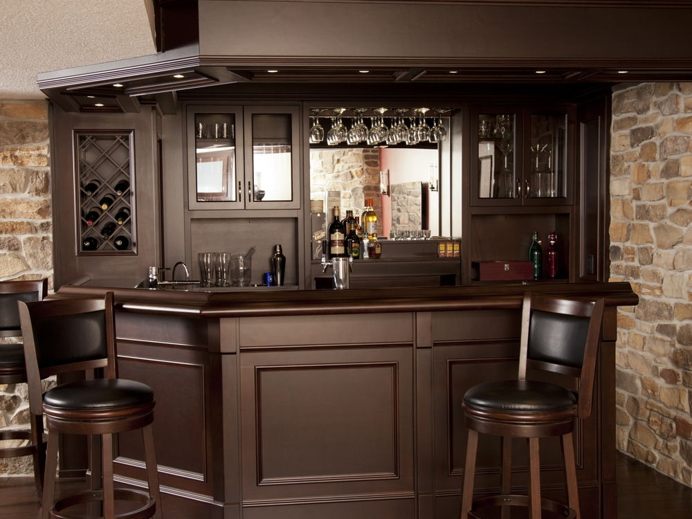 Basement Bar With Granite Custom Home Bars