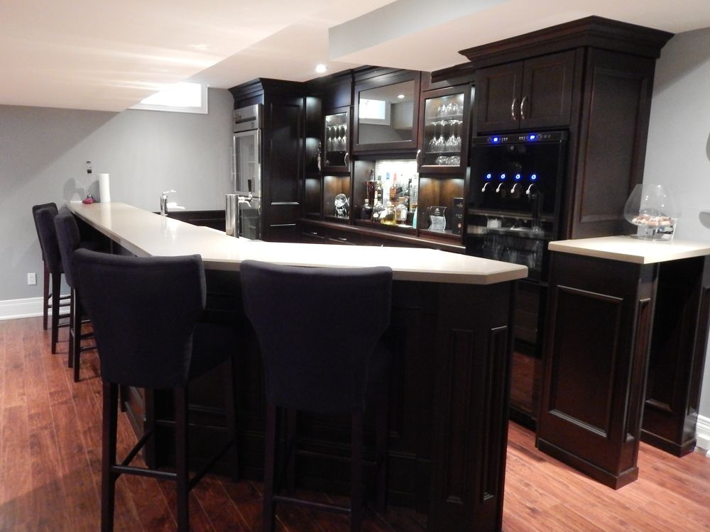 Highly Customized Basement Bar