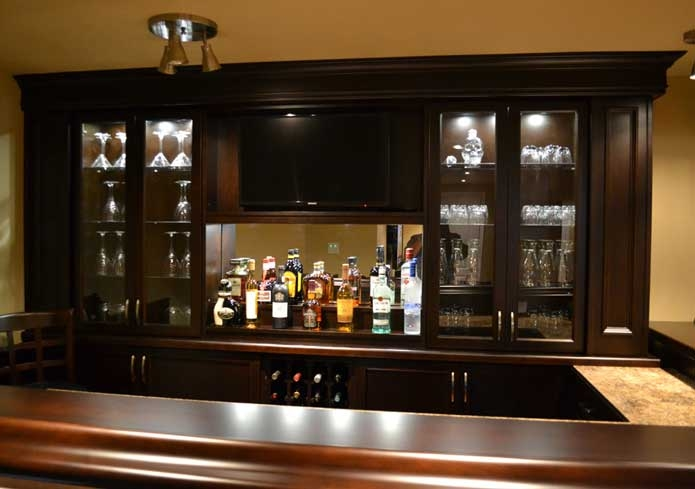 Custom home bar lighting ideas custom home bars Home bar furniture canada