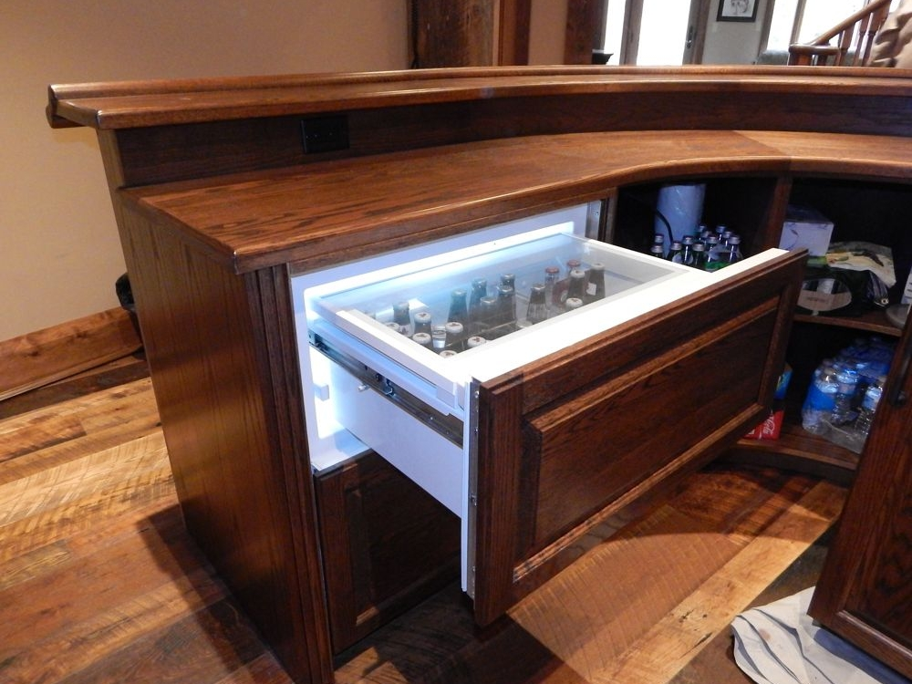 Superior Appliances Built In To Custom Home Bar